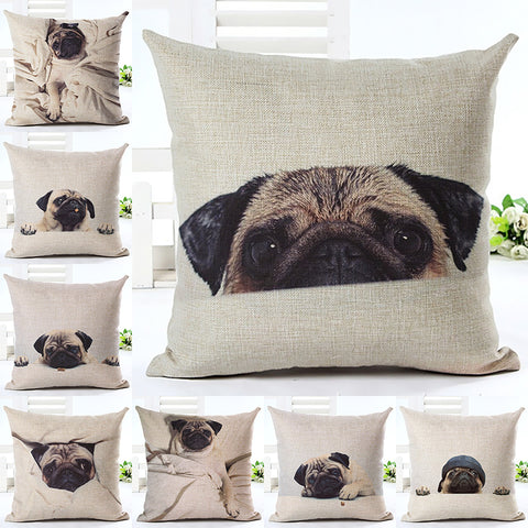100% FREE just pay shipping. Super Cute Pug Cushion Cover - Goggi, Jolli & Milki - www.gojomi.com