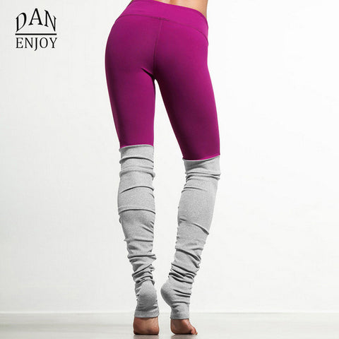 Women Yoga Leggings Bi-Colour Warmers