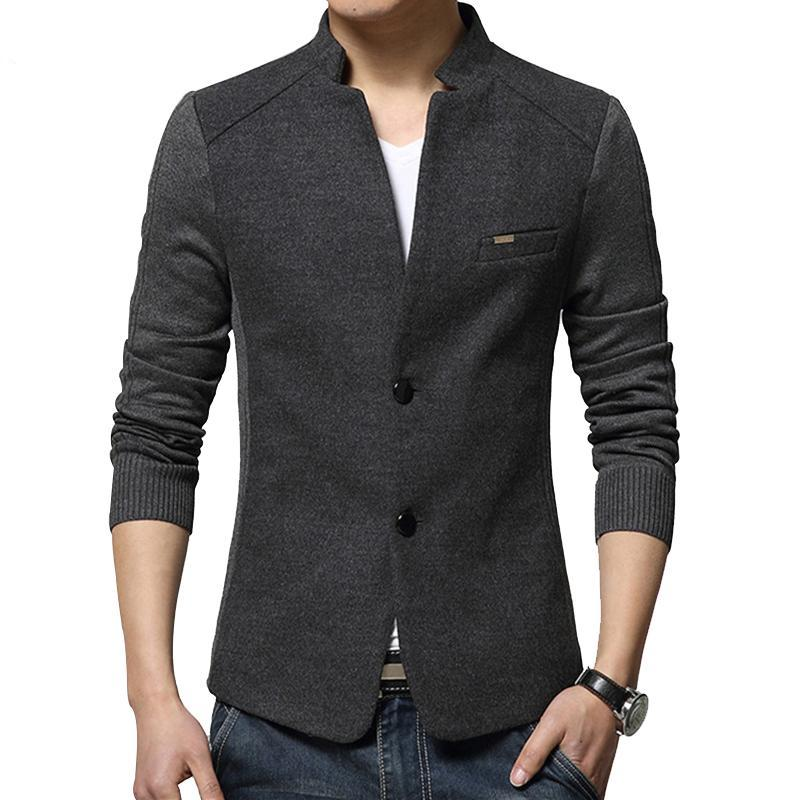 Men's Jacket Two Buttons Mandarin Collar Notched Modern - Goggi, Jolli & Milki - www.gojomi.com