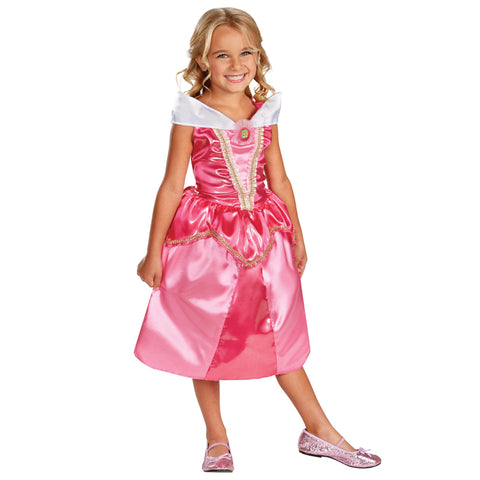 Cosplay Movie Child Princess Aurora The Sleeping Beauty Sparkle Dress