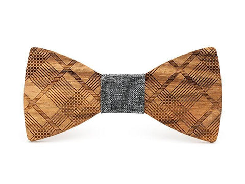 Bunyan's Bow Ties - Butterfly Plaid Handcrafted Wood