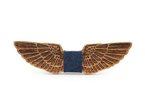 Bunyan's Bow Ties - Carved Wings Handcrafted Wood - Goggi, Jolli & Milki - www.gojomi.com