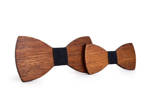 Bunyan's Bow Ties - Butterfly Classic Dark Handcrafted Wood (Father Son)
