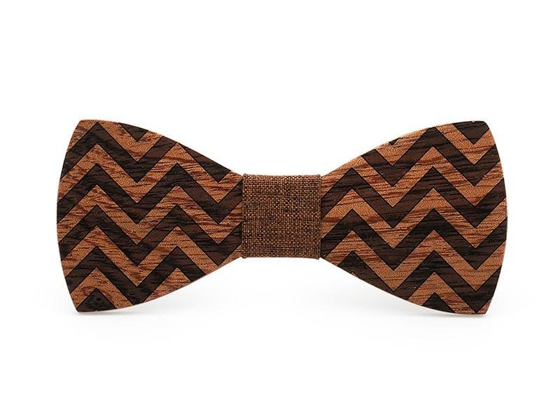 Bunyan's Bow Ties - Butterfly ZigZag Handcrafted Wood
