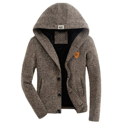 Men's Cardigan Woollen with Hoodie