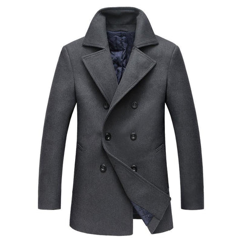 Men's Coat Peacoat Six Buttons Notched Lapel Traditional - Goggi, Jolli & Milki - www.gojomi.com