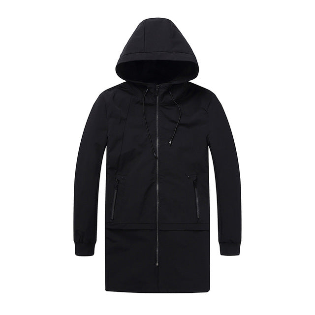 Men's Coat Parka Zipper with Hoodie Modern Korean - Goggi, Jolli & Milki - www.gojomi.com