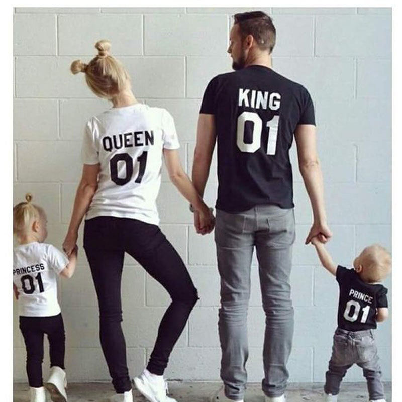 The Matching Family T-shirt Short King Queen Prince Princess 01
