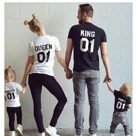 The Matching Family T-shirt Short King Queen Prince Princess 01 - Goggi, Jolli & Milki - www.gojomi.com