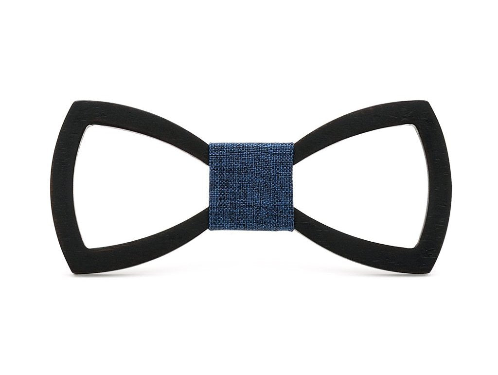 Bunyan's Bow Ties - Carved Butterfly Black Handcrafted Wood - Goggi, Jolli & Milki - www.gojomi.com