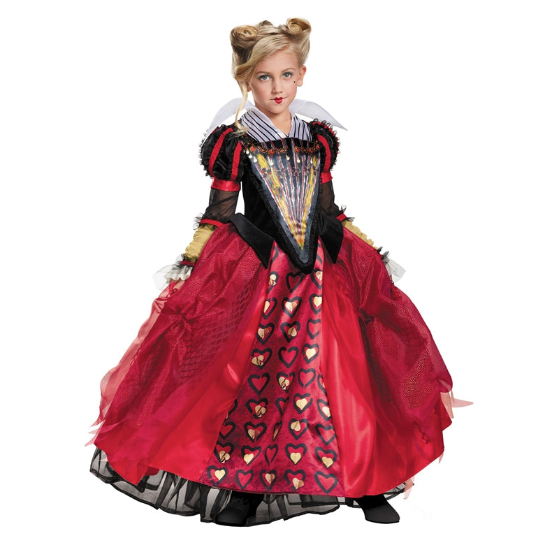 Cosplay Movie Child Red Queen Alice in Wonderland Deluxe Dress