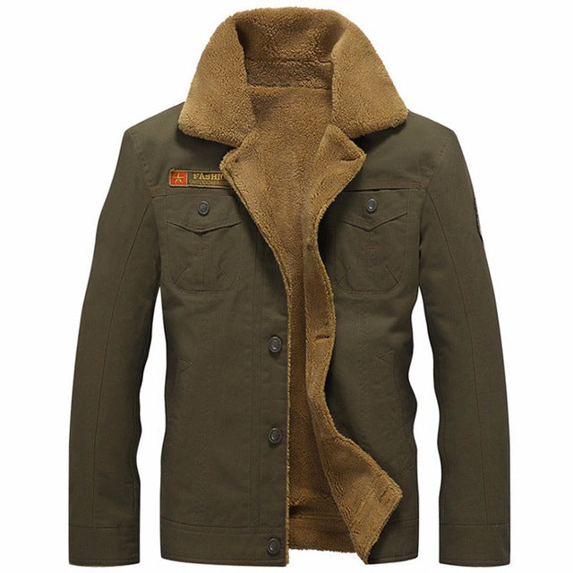 Men's Jacket Car Four Button Notched Lapel Military Casual - Goggi, Jolli & Milki - www.gojomi.com