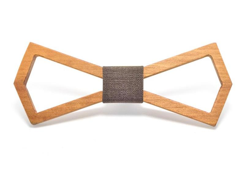 Bunyan's Bow Ties - Carved Batwing Classic Plain Handcrafted Wood