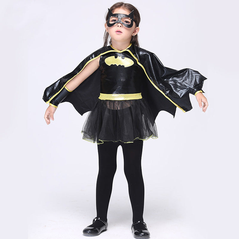 Cosplay Comic Child Batgirl with Cape - Goggi, Jolli & Milki - www.gojomi.com