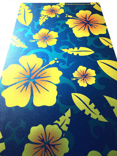 Tribal Yellowred Hibiscus Tree Guard H2 Tree Guards Hawaii