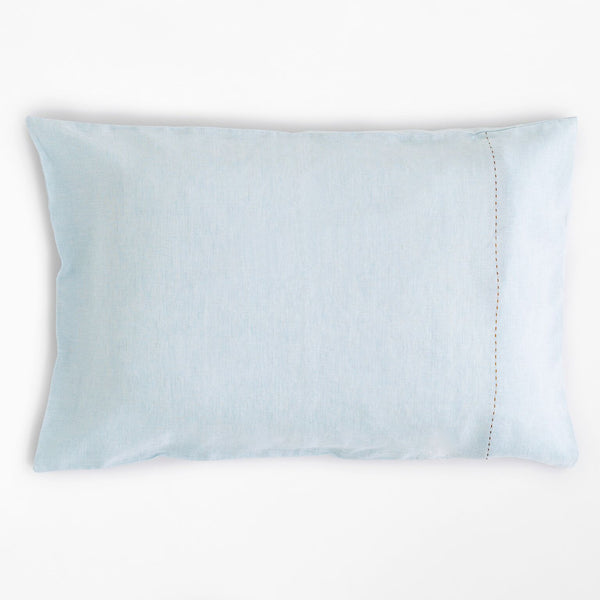 100% Linen Standard Pillowcase Pale Blue
