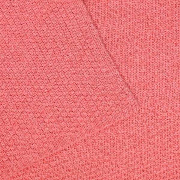 Pepe Knit Lambswool Wrap Coral