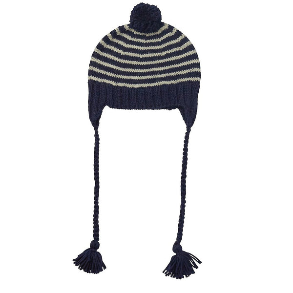Adventure Beanie Navy Stripe