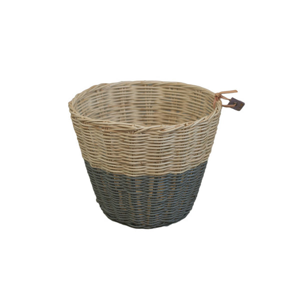 Rattan Basket Dark Grey