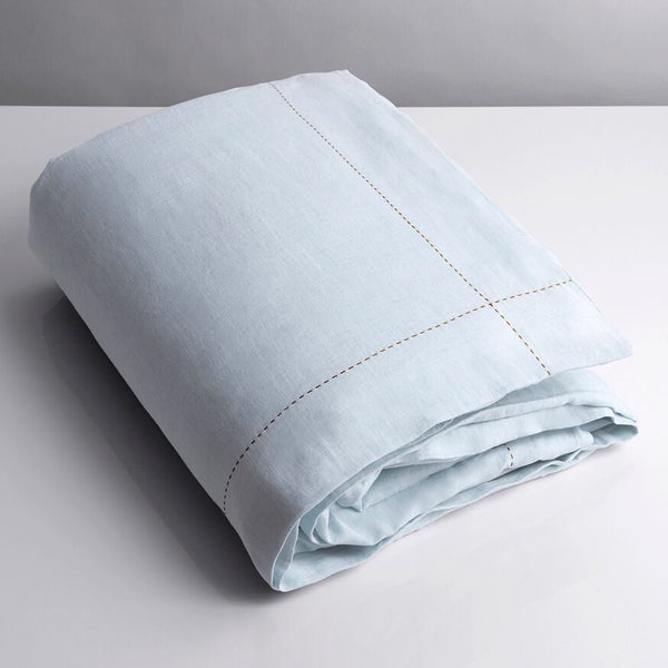 100% Linen Single Duvet Pale Blue