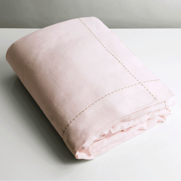 100% Linen Single Duvet Blush Pink