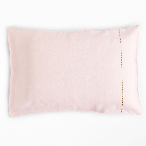 100% Linen Standard Pillowcase Blush