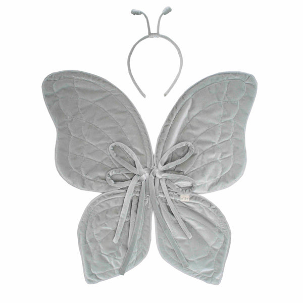 Velvet Butterfly Wings Silver Grey