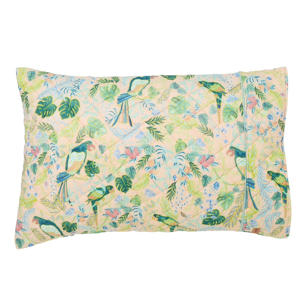 Birds of Paradise Quilted Single Pillowcase