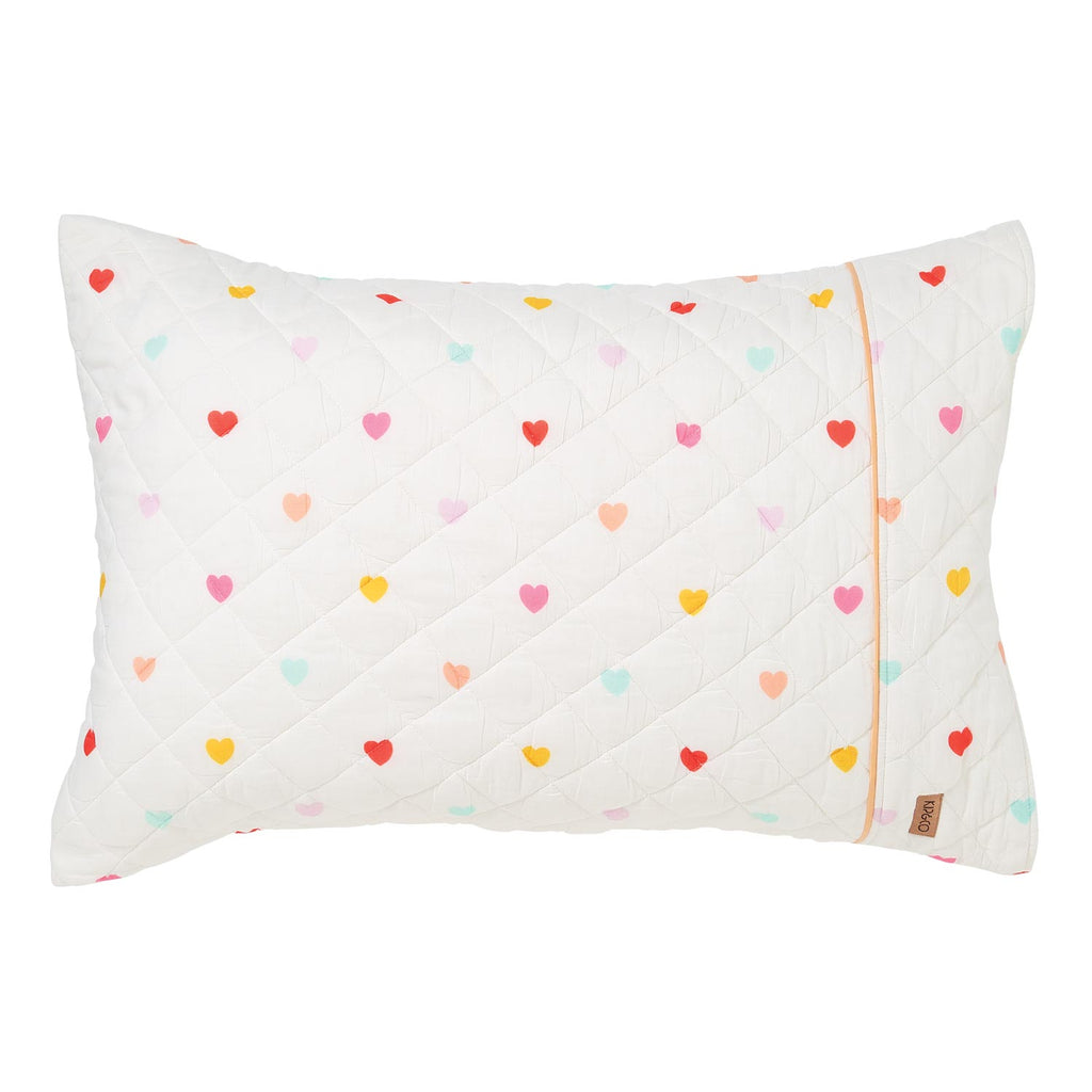 I Heart You Rainbow Quilted Single Pillowcase