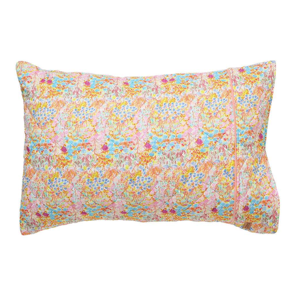 Little Coloured Flowers Quilted Single Pillowcase