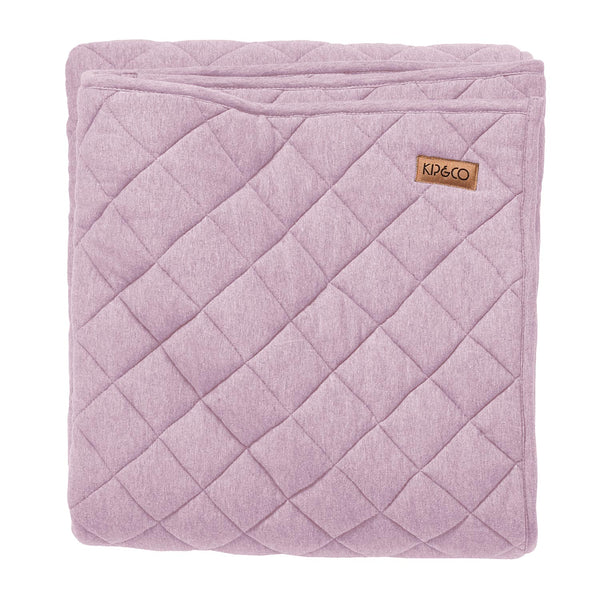 Orchid Jersey Quilted Cot Bedspread