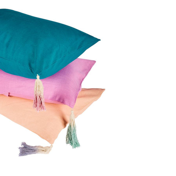 Pantai Tassel Pillowcase Flamingo