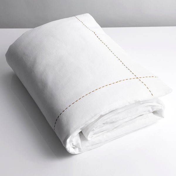 100% Linen Single Duvet White