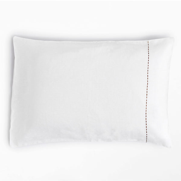 100% Linen Standard Pillowcase White