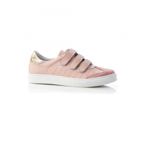 Andy Leather Mini Sneaker Blush