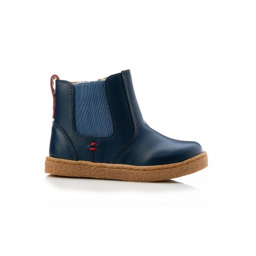 Bobby Leather Boot Navy