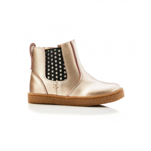 Bobby Leather Spot Boot Gold