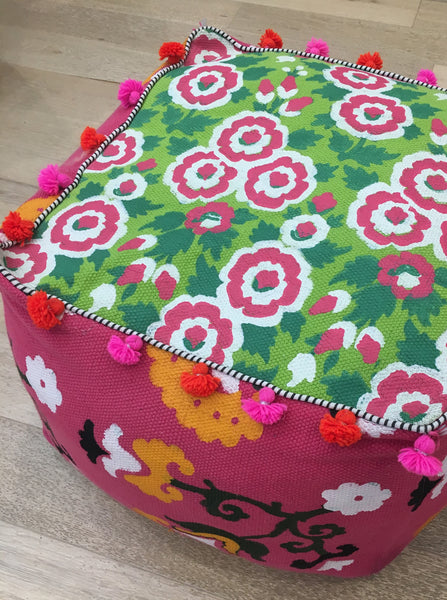 Jewel Dhurry Pouffe Posy