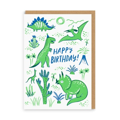Dino Party Card