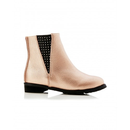 Genie Gusset Ankle Boot Rose Gold