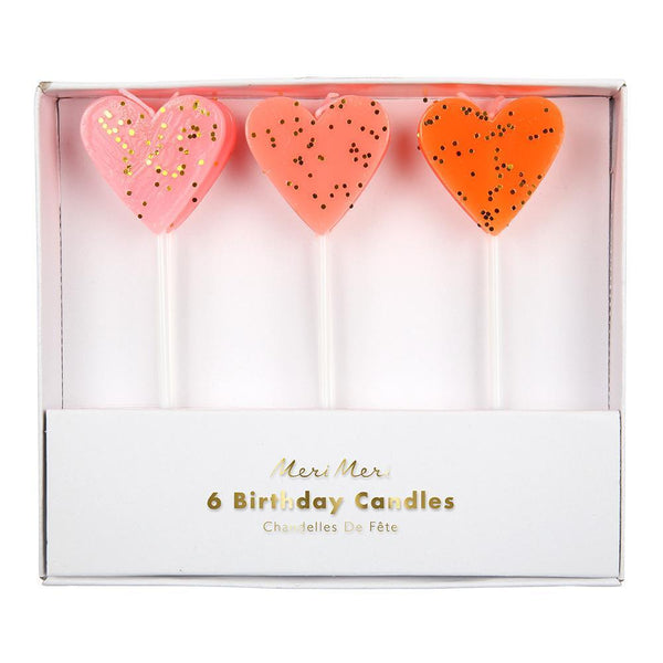 Candles Heart Set of 6