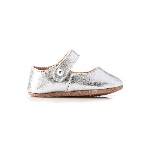 Maggie Leather Mary Jane Silver