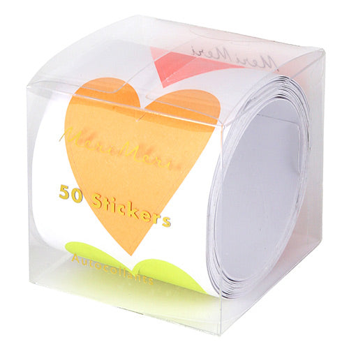Sticker Roll Neon Heart