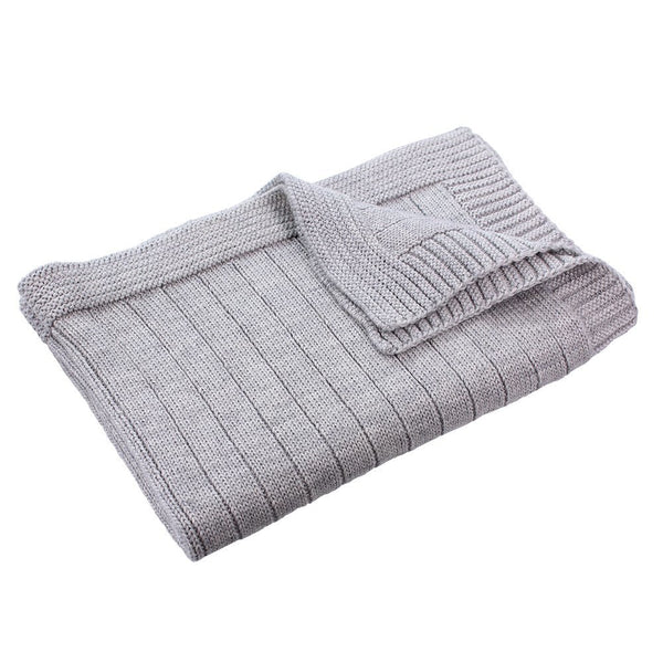 Pip Pure Wool Knit Bassinet Blanket Grey