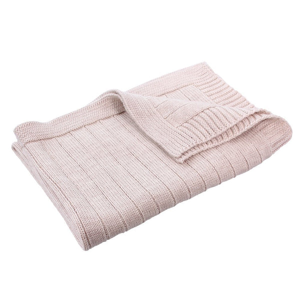 Pip Pure Wool Knit Bassinet Blanket Sand