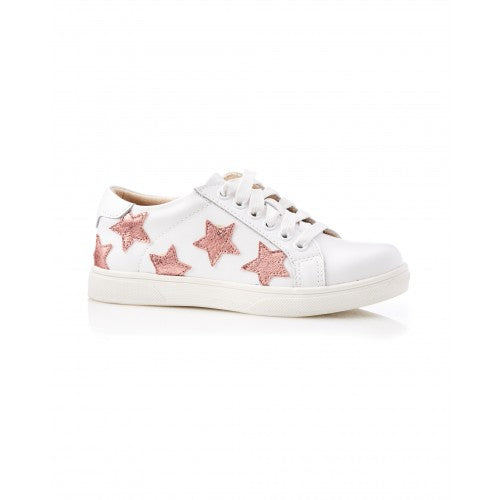 Scout Leather Mini Sneaker White Pink