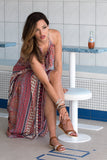 Kirana MARIE-CLAIRE maxi dress worn with LISA sandals