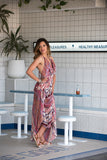 Kirana MARIE CLAIRE maxi dress worn with LISA sandals