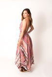 MARIE-CLAIRE backless halter maxi dress - by Kirana Boho Threads