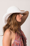 "Kirana WANDA 15"" large brim hat in White"